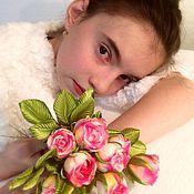 """Свадебный салон ручной работы. Ярмарка Мастеров - ручная работа """"Tender spring""""-розочки из японского шелка.. Handmade."""