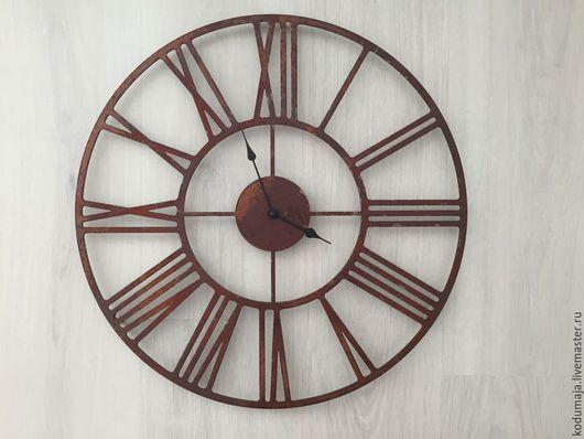 """Часы для дома ручной работы. Ярмарка Мастеров - ручная работа. Купить Часы 50см с ржавчиной """"Rooma-rooste"""". Handmade."""