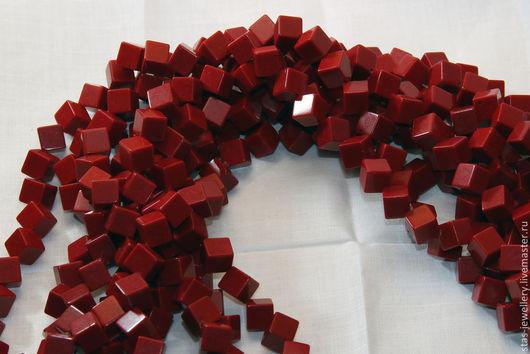 Для украшений ручной работы. Ярмарка Мастеров - ручная работа. Купить Бусины из коралла в форме куба. Handmade. Коралл