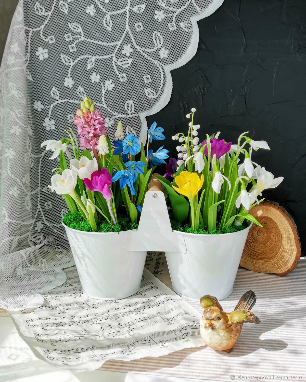 Весенние цветы, Композиции, Ростов-на-Дону,  Фото №1