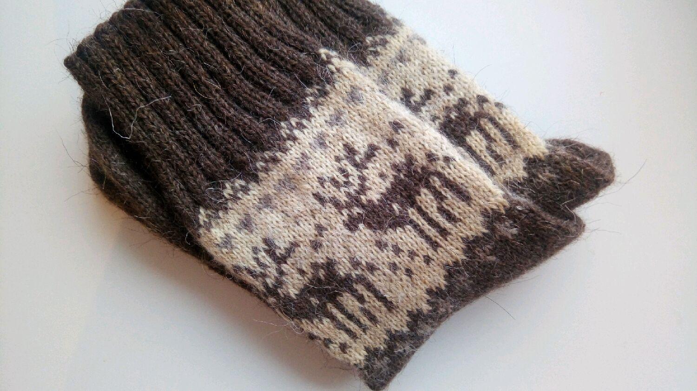 Носки вязаные Сказки Норвегии т-коричневые, Носки, Москва, Фото №1