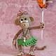 Обезьянка вождь папуасов (оригинальный подарок игрушка)