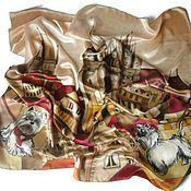 Аксессуары handmade. Livemaster - original item Handkerchief cityscape. Handmade.
