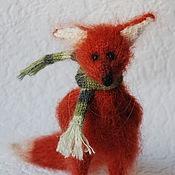 Куклы и игрушки ручной работы. Ярмарка Мастеров - ручная работа Лисичка вязаная рыжая. Handmade.