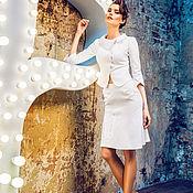 Одежда ручной работы. Ярмарка Мастеров - ручная работа Белый жакет из хлопка. Handmade.
