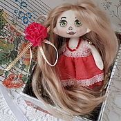 Куклы и пупсы ручной работы. Ярмарка Мастеров - ручная работа Кукла подвеска Розочка. Handmade.