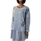 Одежда handmade. Livemaster - original item Tunic long summer lightweight large size cotton and viscose. Handmade.