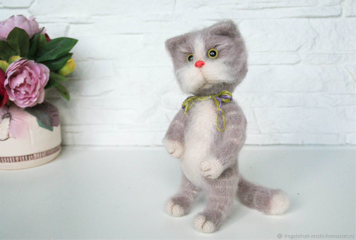 Knitted cat Masaryk, Stuffed Toys, Smolensk,  Фото №1