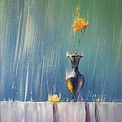 """Картины и панно ручной работы. Ярмарка Мастеров - ручная работа Натюрморт """"Под Дождём"""". Handmade."""
