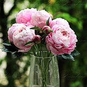 """Цветы и флористика ручной работы. Ярмарка Мастеров - ручная работа Букет пионов сорта """"Sarah Bernhardt"""" из фоамирана. Handmade."""