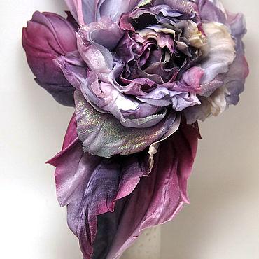 "Flowers and floristry handmade. Livemaster - original item Роза ""Тиара"", Цветы из шелка, цветы из ткани.. Handmade."