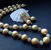 Украшения handmade. Livemaster - original item Necklace and earrings of pearls