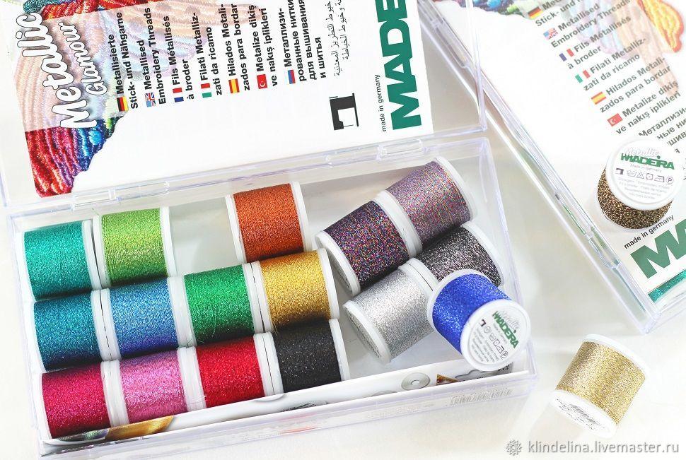 Набор ниток Madeira Metallic №40 SUPERTWIST 18 цветов, 200 м, Нитки, Калуга,  Фото №1