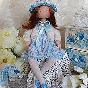 Куклы и игрушки ручной работы. Ярмарка Мастеров - ручная работа Текстильная кукла АЛИНА. Интерьерная кукла. Сидячая кукла. Handmade.