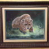 """Картины ручной работы. Ярмарка Мастеров - ручная работа """"Медведь .Хозяин тайги"""". Handmade."""