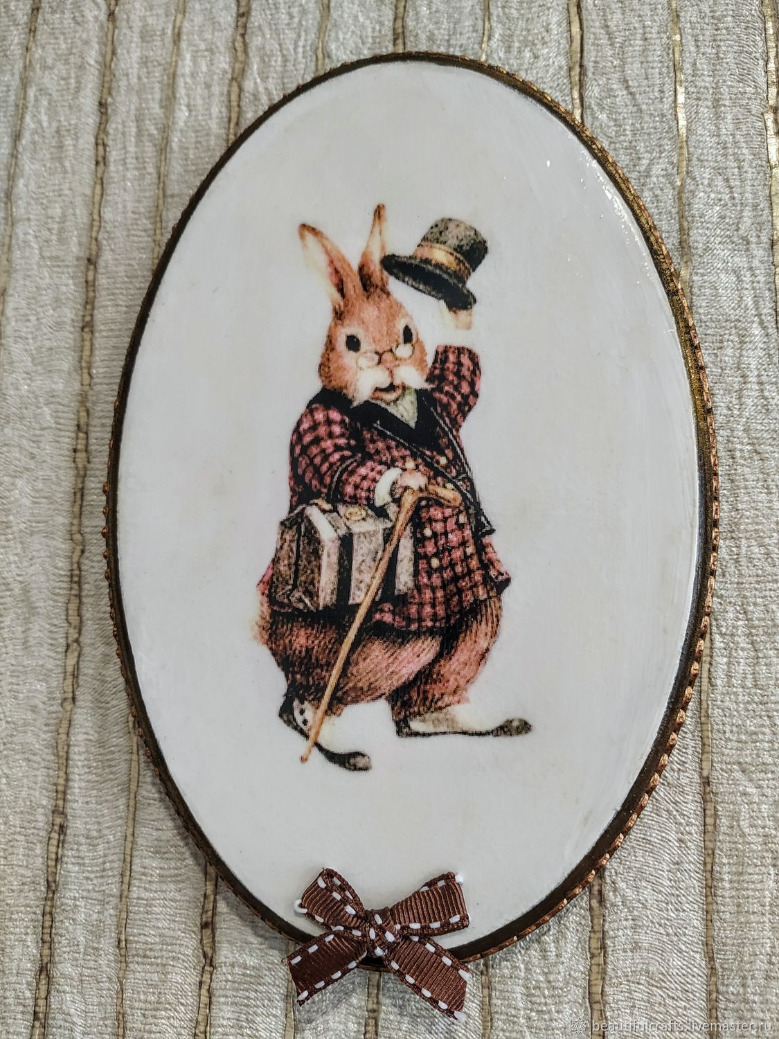 Panel with a rabbit in the English style ' Hello, how are you?', Panels, St. Petersburg,  Фото №1