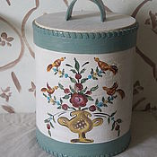 Посуда handmade. Livemaster - original item Birch bark Tues for food. Ural-Siberian painting. Handmade.