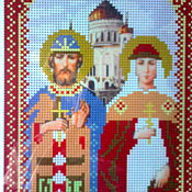 Материалы для творчества handmade. Livemaster - original item Scheme of the icon of Peter and Fevronia. Handmade.