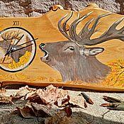 Часы классические ручной работы. Ярмарка Мастеров - ручная работа Часы из дерева ручной работы Изюбрь. Handmade.