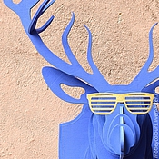 Маски ручной работы. Ярмарка Мастеров - ручная работа Голова оленя декоративная. Handmade.