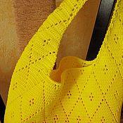 """Сумки и аксессуары ручной работы. Ярмарка Мастеров - ручная работа Сумка вязаная """"Сочный лимон"""". Handmade."""