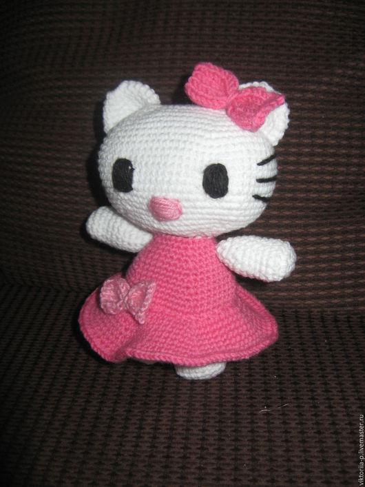 Игрушки животные, ручной работы. Ярмарка Мастеров - ручная работа. Купить Кошечка Hello Kitty. Handmade. Комбинированный, Вязание крючком