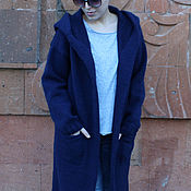 Одежда handmade. Livemaster - original item Women`s hooded cardigan wool. Handmade.