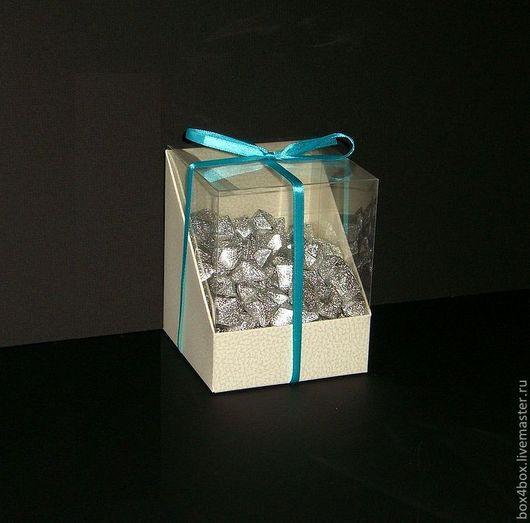 Подарочная упаковка ручной работы. Ярмарка Мастеров - ручная работа. Купить Коробки с пластиковым верхом. Handmade. Белый, упаковка для мыла