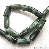 Бусины ручной работы. Ярмарка Мастеров - ручная работа ЯШМА зеленая, витая трубочка 20х10мм. Handmade.