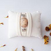 Украшения ручной работы. Ярмарка Мастеров - ручная работа Нежный браслет кожаный Бело-персиковый. Handmade.