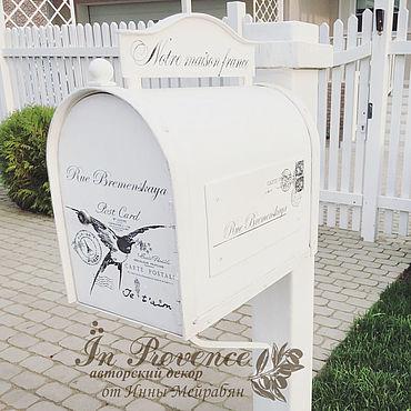 Для дома и интерьера ручной работы. Ярмарка Мастеров - ручная работа Почтовый ящик ручной работы в стиле прованс. Handmade.