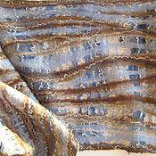 Аксессуары handmade. Livemaster - original item Openwork scarf felted Norway blue brown. Handmade.