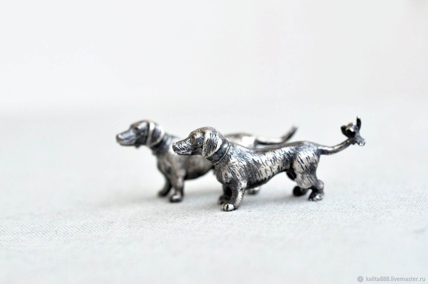 """Silver figures """"Loving dogs"""", Model, Moscow,  Фото №1"""
