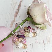 Украшения ручной работы. Ярмарка Мастеров - ручная работа Серьги грозди конфетки из кварца агатов. Handmade.