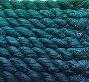 Материалы для творчества ручной работы. Ярмарка Мастеров - ручная работа Градиент. 100% шёлк ручной окраски- Mermaid. Handmade.