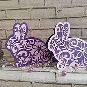 Открытки ручной работы. Ярмарка Мастеров - ручная работа Открытка Зайчик кролик зайка Подарок девушке женщине. Handmade.