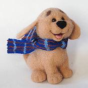 Куклы и игрушки ручной работы. Ярмарка Мастеров - ручная работа Веселый щенок. Валяная игрушка из шерсти. Handmade.