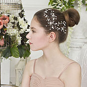 Свадебный салон handmade. Livemaster - original item Twig hair, white wedding wreath. Handmade.