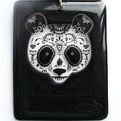 Украшения handmade. Livemaster - original item transparent pendant, panda jewelry resin unisex. Handmade.