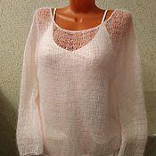 Одежда handmade. Livemaster - original item Mohair jumper-gossamer