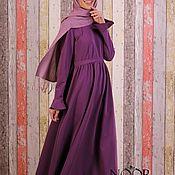 Одежда ручной работы. Ярмарка Мастеров - ручная работа Платье в пол (фиолет). Handmade.