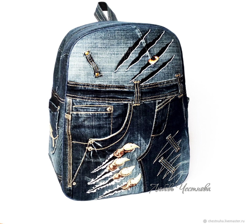 Рюкзаки ручной работы. Ярмарка Мастеров - ручная работа. Купить Рюкзак  мужской джинсовый Stranger. 36a41a33236