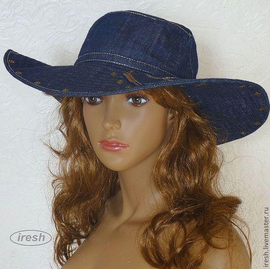 """Шляпы ручной работы. Ярмарка Мастеров - ручная работа. Купить Шляпа """"Джинсовый стиль"""". Handmade. Летние головные уборы"""