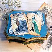 Для дома и интерьера handmade. Livemaster - original item Jewelry box vintage decoupage