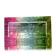 Материалы для творчества handmade. Livemaster - original item Polychromatic Tourmaline 10,7 x 5,7 mm. Handmade.