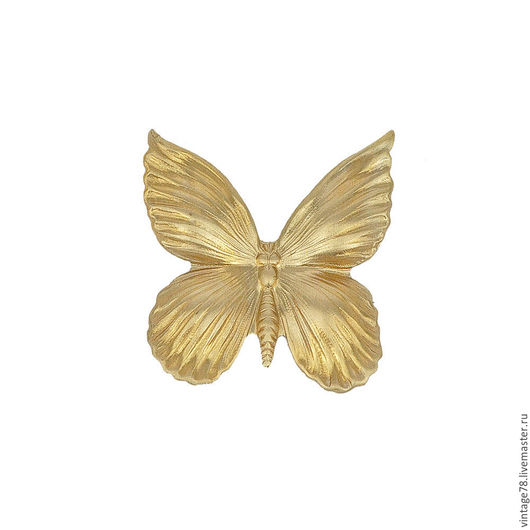 Для украшений ручной работы. Ярмарка Мастеров - ручная работа. Купить Винтажная фурнитура, винтажный штамп бабочка 27. Handmade.