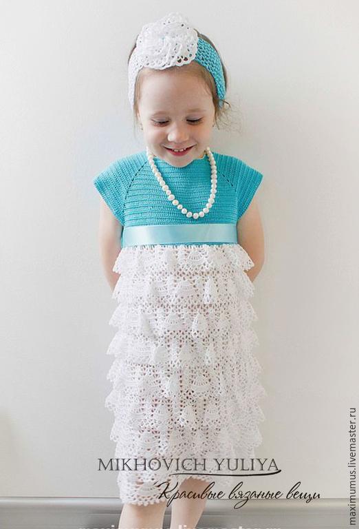 Платье детское с воланами мастер класс