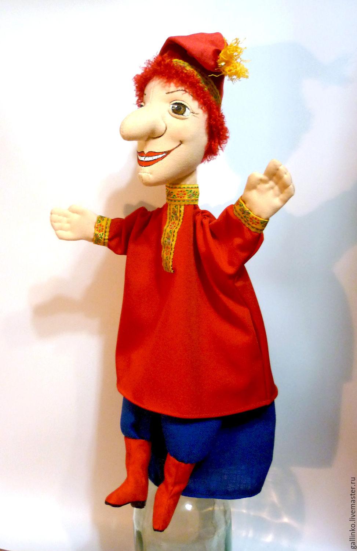 Кукольный театр ручной работы. Ярмарка Мастеров - ручная работа. Купить  Петрушка кукла на руку ... bc03bae1688