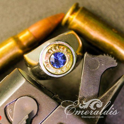 Украшения для мужчин, ручной работы. Ярмарка Мастеров - ручная работа. Купить Перстень с гильзой 7,62. Handmade. Перстень из серебра