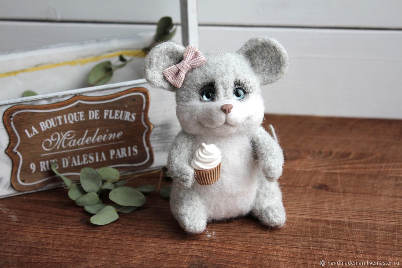 Мышка пухлик игрушка символ 2020 года, Войлочная игрушка, Москва,  Фото №1